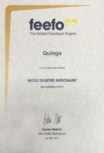Quingo Feefo Trusted Award 2015