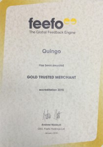 Quingo Feefo Trusted Award 2016