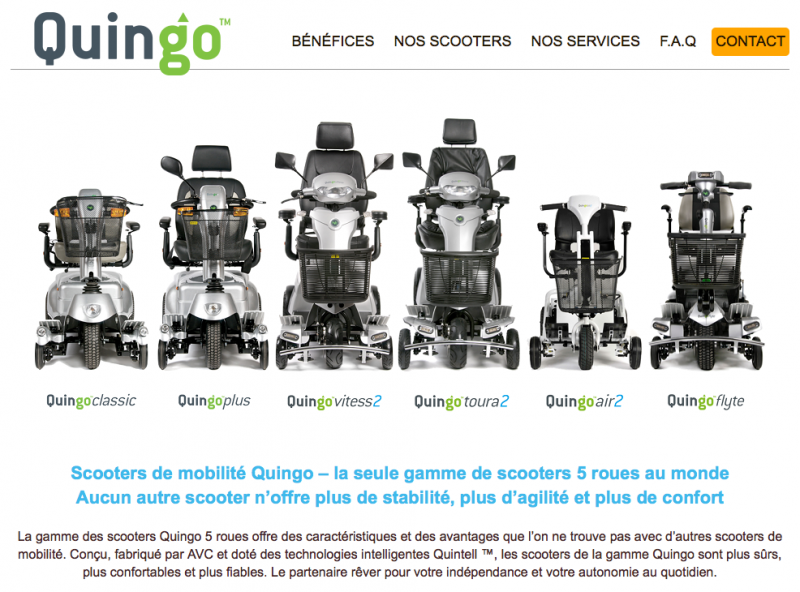 Quingo French Website